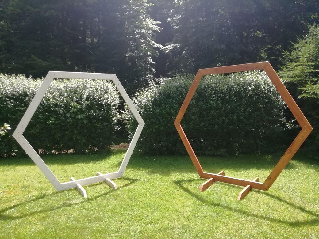 Slavobrána hexagon na svatbu