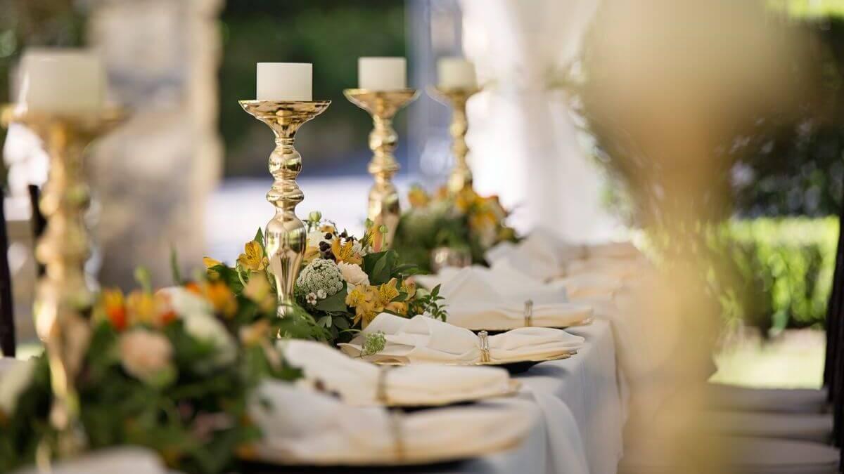 Výzdoba svatebních stolů